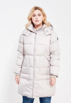 Пуховик, Baon, цвет: бежевый. Артикул: BA007EWWAM44. Женская одежда / Верхняя одежда / Пуховики и зимние куртки / Длинные пуховики и куртки