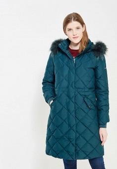 Пуховик, Baon, цвет: зеленый. Артикул: BA007EWWAQ39. Женская одежда / Верхняя одежда / Пуховики и зимние куртки / Длинные пуховики и куртки