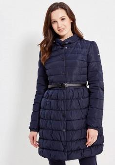Пуховик, Baon, цвет: синий. Артикул: BA007EWWAQ89. Женская одежда / Верхняя одежда / Пуховики и зимние куртки / Длинные пуховики и куртки