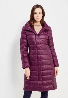 Пуховик, Baon, цвет: фиолетовый. Артикул: BA007EWWAR26. Женская одежда / Верхняя одежда / Пуховики и зимние куртки / Длинные пуховики и куртки