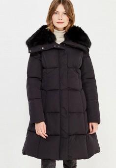 Пуховик, Baon, цвет: черный. Артикул: BA007EWWAR40. Женская одежда / Верхняя одежда / Пуховики и зимние куртки / Длинные пуховики и куртки