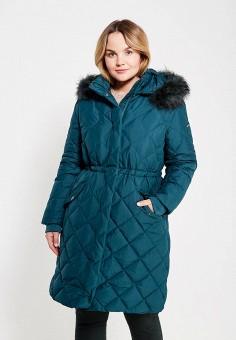 Пуховик, Baon, цвет: зеленый. Артикул: BA007EWYRG36. Женская одежда / Верхняя одежда / Пуховики и зимние куртки / Длинные пуховики и куртки
