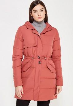 Пуховик, Befree, цвет: коралловый. Артикул: BE031EWYME03. Женская одежда / Верхняя одежда / Пуховики и зимние куртки