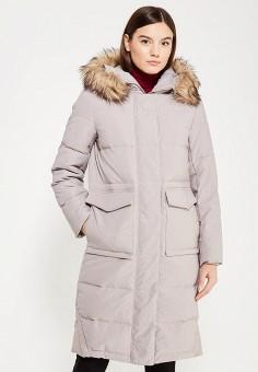 Пуховик, Befree, цвет: бежевый. Артикул: BE031EWYME09. Женская одежда / Верхняя одежда / Пуховики и зимние куртки / Длинные пуховики и куртки