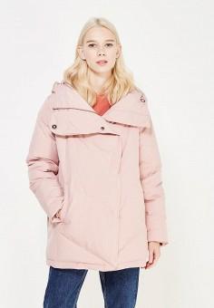 Пуховик, Befree, цвет: розовый. Артикул: BE031EWYME56. Женская одежда / Верхняя одежда / Пуховики и зимние куртки