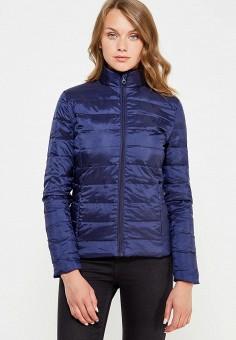 Пуховик, Bestia, цвет: синий. Артикул: BE032EWWMZ57. Женская одежда / Верхняя одежда / Пуховики и зимние куртки