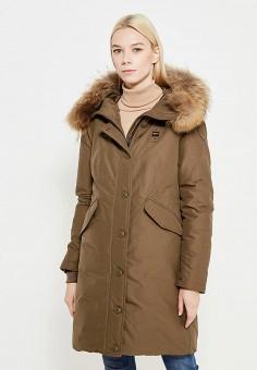 Пуховик, Blauer, цвет: хаки. Артикул: BL654EWVFB56. Премиум / Одежда / Верхняя одежда / Пуховики и зимние куртки