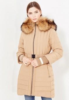 Пуховик, Bosideng, цвет: коричневый. Артикул: BO026EWVBC44. Женская одежда / Верхняя одежда / Пуховики и зимние куртки