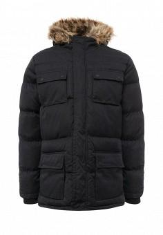 Куртка утепленная, Brave Soul, цвет: черный. Артикул: BR019EMUMI81. Мужская одежда / Верхняя одежда / Пуховики и зимние куртки