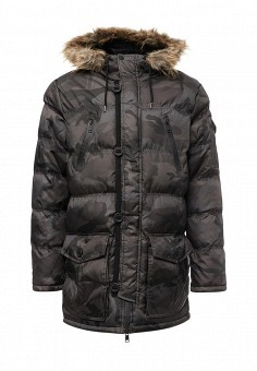 Куртка утепленная, Brave Soul, цвет: коричневый. Артикул: BR019EMXWS97. Мужская одежда / Верхняя одежда / Пуховики и зимние куртки