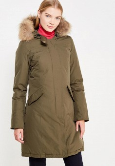 Пуховик, Canadian, цвет: хаки. Артикул: CA998EWTCE19. Премиум / Одежда / Верхняя одежда / Пуховики и зимние куртки