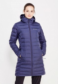 Пуховик, Columbia, цвет: синий. Артикул: CO214EWWIC02. Женская одежда / Верхняя одежда / Пуховики и зимние куртки
