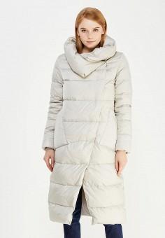 Пуховик, Defreeze, цвет: серый. Артикул: DE032EWWKF54. Женская одежда / Верхняя одежда / Пуховики и зимние куртки