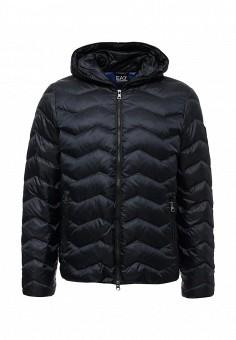Пуховик, EA7, цвет: синий. Артикул: EA002EMUEE64. Мужская одежда / Верхняя одежда / Пуховики и зимние куртки