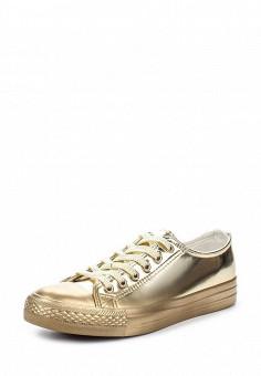 Кеды, Fashion & Bella, цвет: золотой. Артикул: FA034AWSAE85. Женская обувь / Кроссовки и кеды