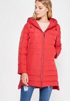 Пуховик, Finn Flare, цвет: красный. Артикул: FI001EWUZV37. Женская одежда / Верхняя одежда / Пуховики и зимние куртки