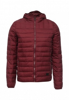 Пуховик, Fresh Brand, цвет: бордовый. Артикул: FR040EMNHT57. Мужская одежда / Верхняя одежда / Пуховики и зимние куртки