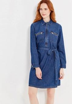 Джинсовое платье сафари купить в интернет магазине