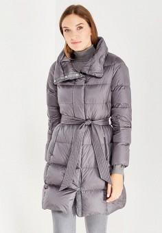 Пуховик, Geox, цвет: серый. Артикул: GE347EWVAL97. Женская одежда / Верхняя одежда / Пуховики и зимние куртки