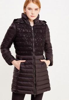 Пуховик, Geox, цвет: черный. Артикул: GE347EWVAP34. Женская одежда / Верхняя одежда / Пуховики и зимние куртки