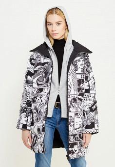 Пуховик, Iceberg, цвет: черно-белый, черный. Артикул: IC461EWTWP43. Премиум / Одежда / Верхняя одежда / Пуховики и зимние куртки