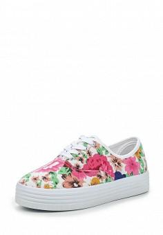 Кеды, Ideal Shoes, цвет: мультиколор. Артикул: ID005AWICH98. Женская обувь / Кроссовки и кеды