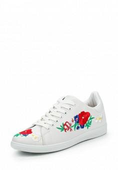 Кеды, Ideal Shoes, цвет: белый. Артикул: ID005AWPSL43. Женская обувь / Кроссовки и кеды
