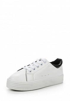Кеды, Ideal Shoes, цвет: белый. Артикул: ID005AWPVT30. Женская обувь / Кроссовки и кеды