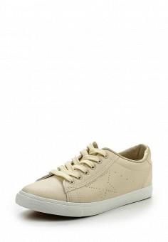 Кеды, Ideal Shoes, цвет: бежевый. Артикул: ID005AWRWQ41. Женская обувь / Кроссовки и кеды