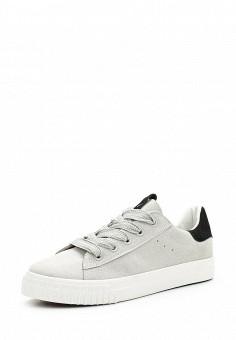 Кеды, Ideal Shoes, цвет: серый. Артикул: ID007AWWEH06. Женская обувь / Кроссовки и кеды