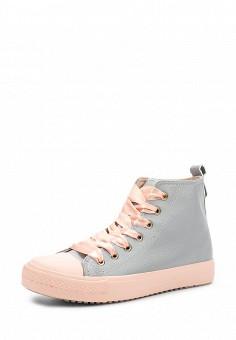 Кеды, Ideal Shoes, цвет: серый. Артикул: ID007AWWEI64. Женская обувь / Кроссовки и кеды