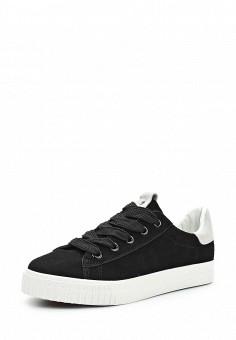 Кеды, Ideal Shoes, цвет: черный. Артикул: ID007AWWEI65. Женская обувь / Кроссовки и кеды