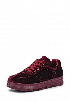 Кеды, Ideal Shoes, цвет: бордовый. Артикул: ID007AWWEI68. Женская обувь / Кроссовки и кеды