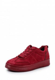 Кеды, Ideal Shoes, цвет: бордовый. Артикул: ID007AWWEI78. Женская обувь / Кроссовки и кеды