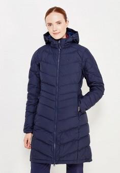 Пуховик, Jack Wolfskin, цвет: синий. Артикул: JA021EWWHZ15. Женская одежда / Верхняя одежда / Пуховики и зимние куртки