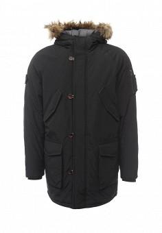 Парка, Jack & Jones, цвет: черный. Артикул: JA391EMVBB83. Мужская одежда / Верхняя одежда / Пуховики и зимние куртки