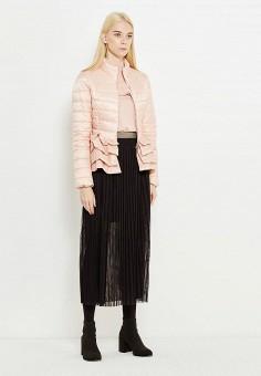 Куртка утепленная, Liu Jo, цвет: розовый. Артикул: LI687EWUDM92. Премиум / Одежда / Верхняя одежда