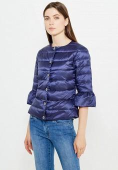 Пуховик, Liu Jo, цвет: синий. Артикул: LI687EWUDM98. Премиум / Одежда / Верхняя одежда / Пуховики и зимние куртки