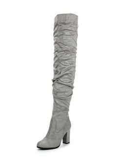 Ботфорты, LOST INK, цвет: серый. Артикул: LO019AWYBP35. Женская обувь / Сапоги