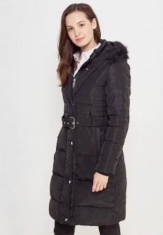 Пуховик, Mango, цвет: черный. Артикул: MA002EWWOZ35. Женская одежда / Верхняя одежда / Пуховики и зимние куртки