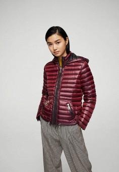Пуховик, Mango, цвет: бордовый. Артикул: MA002EWXFC49. Женская одежда / Верхняя одежда / Пуховики и зимние куртки