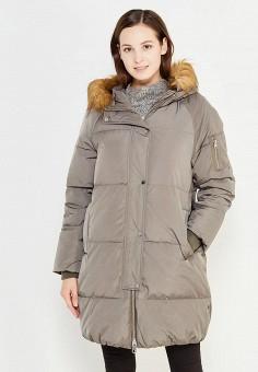 Пуховик, Mango, цвет: серый. Артикул: MA002EWXJR70. Женская одежда / Верхняя одежда / Пуховики и зимние куртки