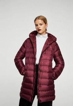Пуховик, Mango, цвет: бордовый. Артикул: MA002EWXZG05. Женская одежда / Верхняя одежда / Пуховики и зимние куртки