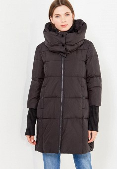 Пуховик, Max&Co, цвет: черный. Артикул: MA111EWUCH61. Премиум / Одежда / Верхняя одежда / Пуховики и зимние куртки