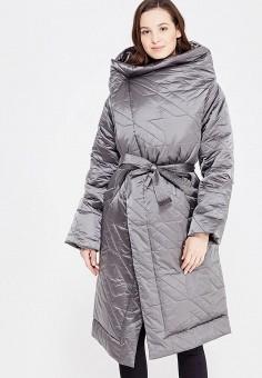 Пуховик, Odri, цвет: серый. Артикул: OD001EWXGF43. Женская одежда / Верхняя одежда / Пуховики и зимние куртки