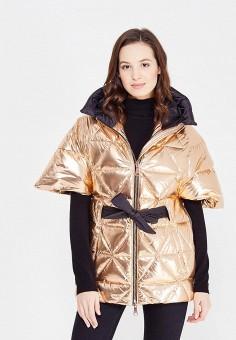 Пуховик, Odri, цвет: золотой. Артикул: OD001EWXGF53. Женская одежда / Верхняя одежда / Пуховики и зимние куртки