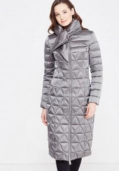 Пуховик, Odri, цвет: серый. Артикул: OD001EWXGF66. Женская одежда / Верхняя одежда / Пуховики и зимние куртки