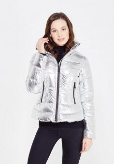 Пуховик, Odri, цвет: серебряный. Артикул: OD001EWXGF82. Женская одежда / Верхняя одежда / Пуховики и зимние куртки