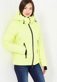 Пуховик, Odri, цвет: желтый. Артикул: OD001EWXGF83. Женская одежда / Верхняя одежда / Пуховики и зимние куртки