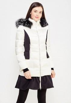 Пуховик, Odri, цвет: бежевый. Артикул: OD001EWYGM41. Женская одежда / Верхняя одежда / Пуховики и зимние куртки